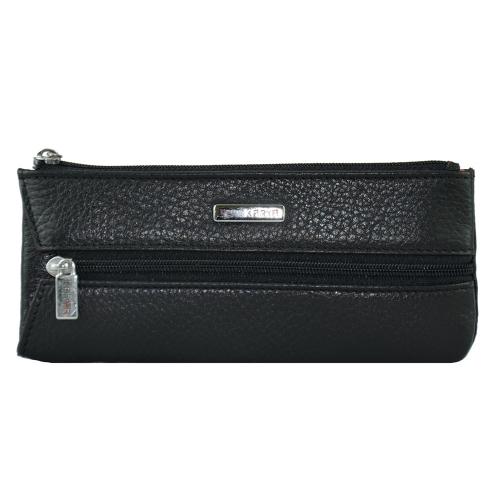 Ключница карманная черная на молнии 052/101