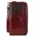 Клатч кошелек красный черный крокодил AKA 430/305-105 Турция