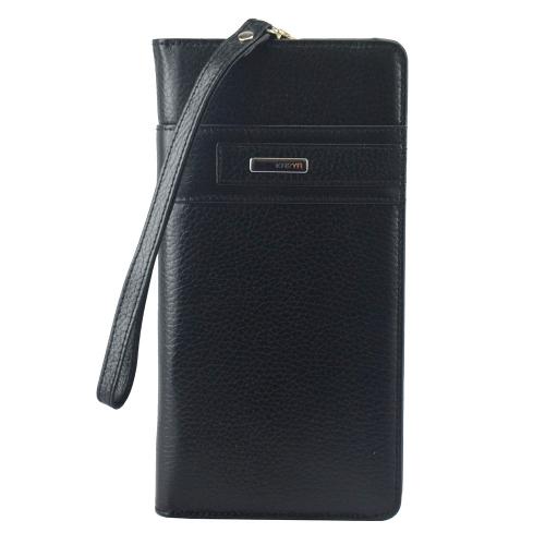Клатч кошелек кожаный черный KARYA 1136/101 Турция