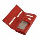 Кошелек из натуральной кожи красный KARYA 1133/301 Турция