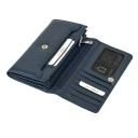 Кожаный кошелек женский синий KARYA 1061/401 Турция