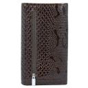 Женский кошелек кожаный коричневый питон KARYA 1088/209 Турция