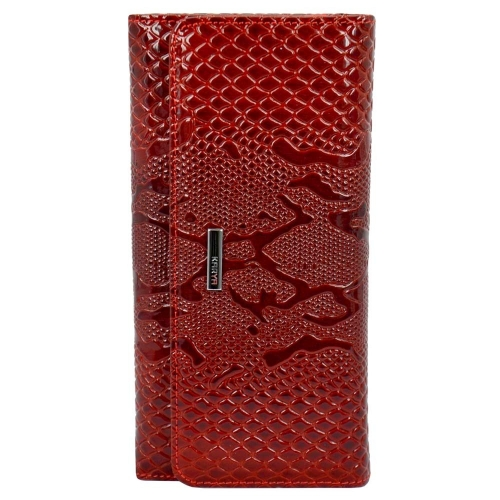 Женский кошелек кожаный красный питон KARYA 1094/309 Турция