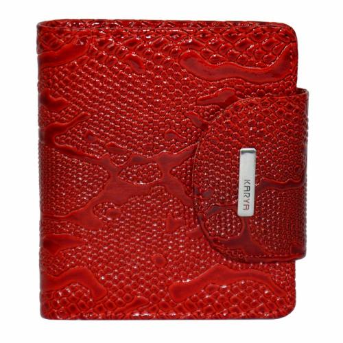 Кошелек натуральная кожа красный KARYA 1052/309 Турция