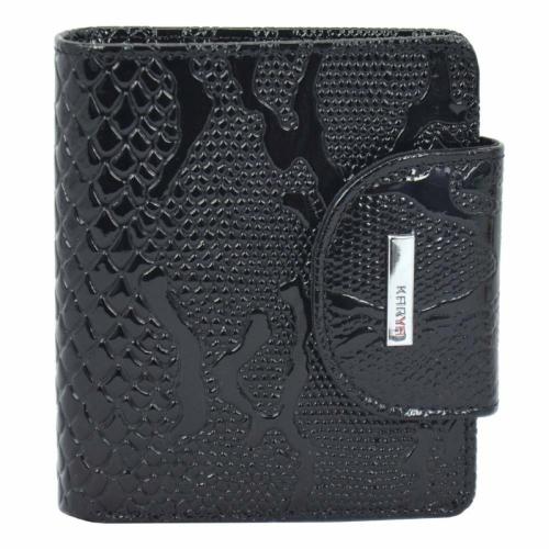 Кошелек женский маленький кожаный черный KARYA 1052/109 Турция