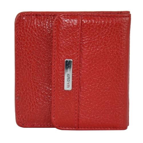 Кошелек женский кожаный красный KARYA 1106 Турция