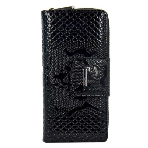 Жіночий гаманець шкіряний чорний пітон KARYA 1119/109 Турція
