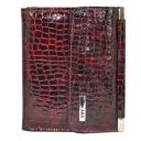Кожаное портмоне женское бордовый AKA 439/319 Турция