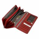 Кожаный кошелек красный KARYA 1151/301 Турция