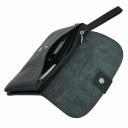 Кожаный кошелек клатч черный AKA 491/101-1 Турция