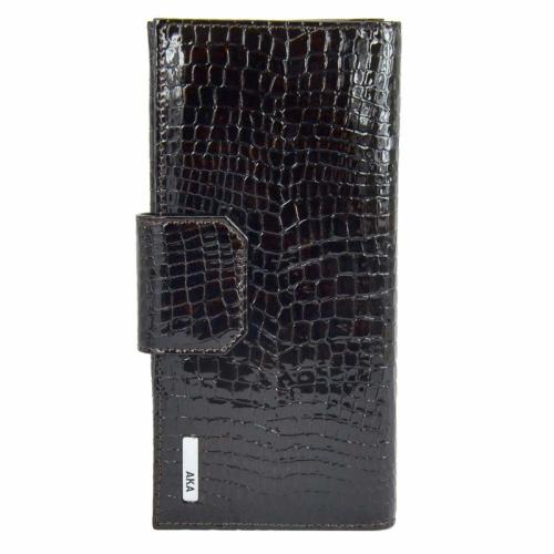 Кожаный кошелек женский коричневый AKA 485/209 Турция