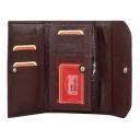 Кожаный кошелек женский бордовый AKA 490/311 Турция