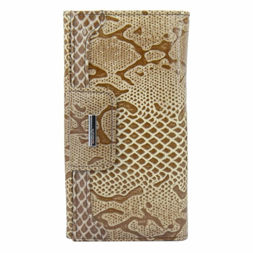Кожаный кошелек женский бежевый KARYA 1015/229 Турция