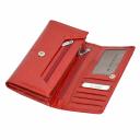 Кожаный кошелек женский красный KARYA 1060/307 Турция