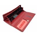 Красный кошелек из натуральной кожи женский AKA 475/301 Турция