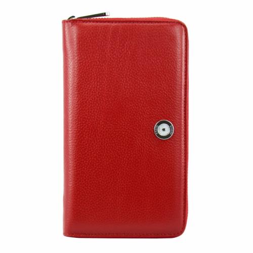 Красный кожаный кошелек на молнии KARYA 1072/301 Турция