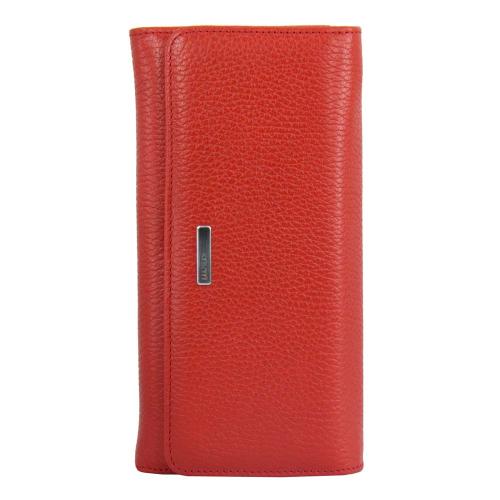 Красный женский кошелек кожаный на кнопке KARYA 1094/301 Турция