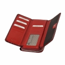 Лаковый кошелек кожаный бордовый KARYA 1140/315 Турция