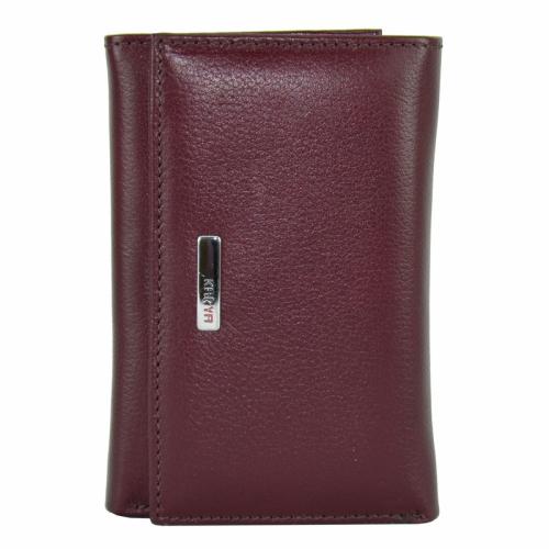 Маленький кошелек кожаный бордовый KARYA 1063/312 Турция