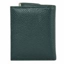 Маленький женский кошелек кожаный зеленый AKA 439/501 Турция