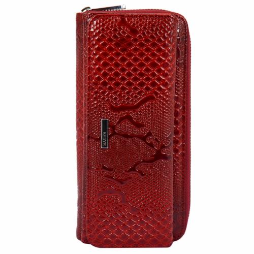 Модный кошелек кожаный красный KARYA 1140/309 Турция
