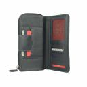 Шкіряний жіночий гаманець чорний AKA 441/101 Турция