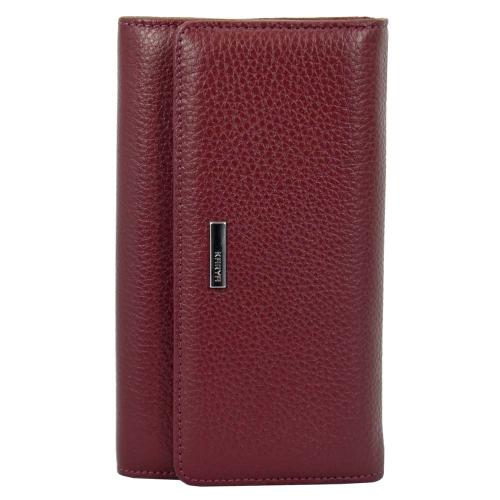 Шкіряний жіночий гаманець бордо KARYA 1088/311 Туреччина