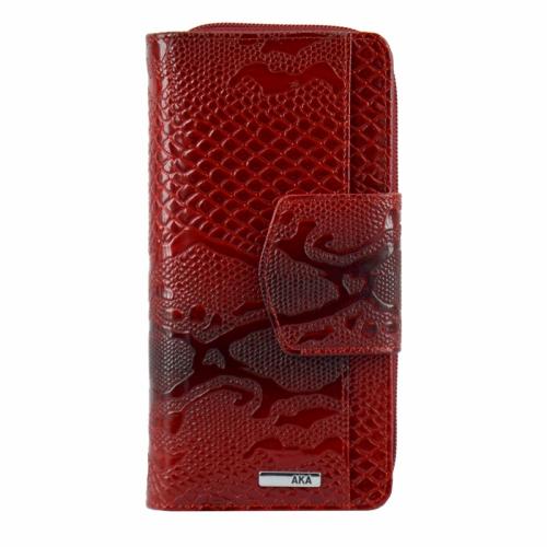 Турецкий кошелек кожаный красный AKA 428/309-101 Турция