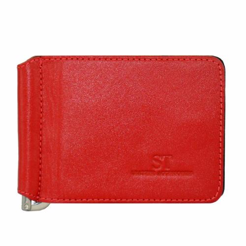 Зажим портмоне красный 01/302ST Китай