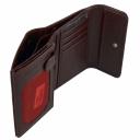 Женский кошелек из натуральной кожи бордовый AKA 445/311 Турция