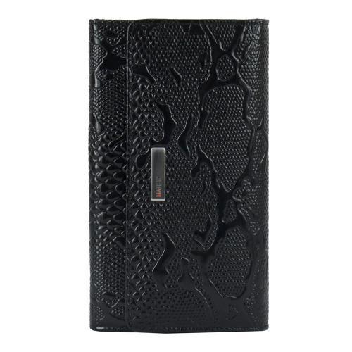 Женский кошелек из натуральной кожи черный питон KARYA 1088/109 Турция