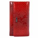 Женский кошелек кожаный красный питон KARYA 1088/309 Турция