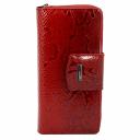Женский кошелек кожаный красный питон KARYA 1119/309 Турция