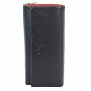 Женский кошелек кожаный черно красный KARYA 1131/101-301 Турция