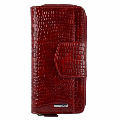 Женский кожаный кошелек красный AKA 428/305-2 Турция