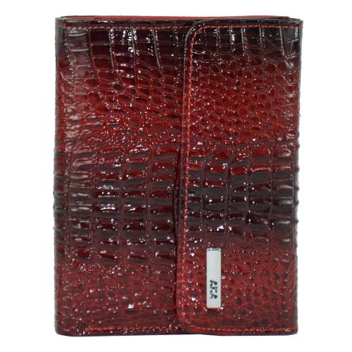 Женский кожаный кошелек красный AKA 445/305-105 Турция