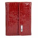Женский красный кошелек лаковый AKA 445/319 Турция