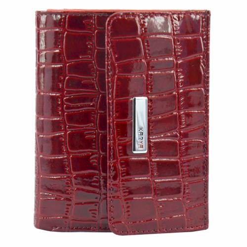 Жіноче портмоне шкіряне бордове KARYA 1065/315 Турция