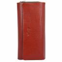Жіночий гаманець шкіряний червоно-чорний KARYA 1131/301-101 Турція