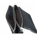 Черный клатч кожаный крокодил Karya 0604/104 Турция