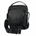 Чоловіча сумка з натуральної шкіри чорна 0242/101 Україна