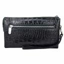 Клатч мужской кожаный черный крокодил Karya 0639/104 Турция