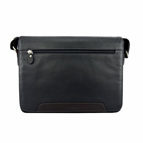 Кожаная мужская сумка черная AKA 385/101 Турция