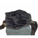 Кожаная мужская сумка через плечо черная 311/101 Украина