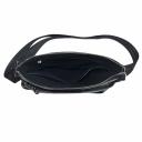 Кожаная мужская сумка через плечо черная Karya 0677/104 Турция