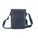 Кожаная мужская сумка синяя Karya 0648/401 Турция