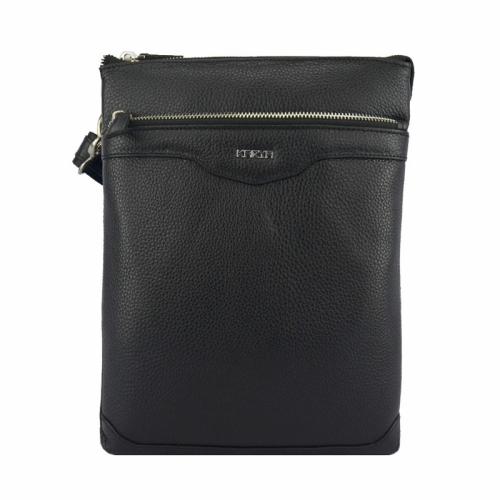 Кожаная мужская сумка черная Karya 0650/101 Турция