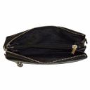Кожаный клатч мужской черный текстурный AKA 364/101-1 Турция