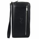 Кожаный клатч черный Karya 0670/101 Турция