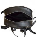 Кожаный мужской рюкзак черный 6001/101 Турция